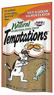 All Natural Temptations Wild Alaskan Salmon Flavor Treats for Cats, 2.47-Ou