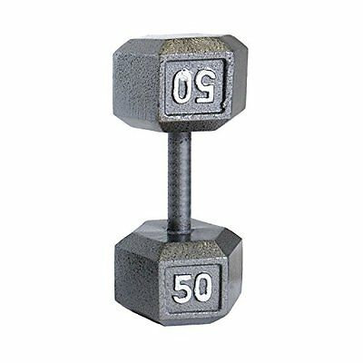 CAP Barbell Solid Hex Dumbbell, Single (5-Pound)