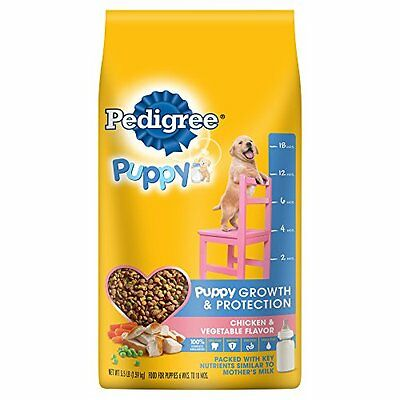 PEDIGREE PUPPY Targeted Nutrition Chicken Flavor Dry Dog Food, 3.5 lb. Bag