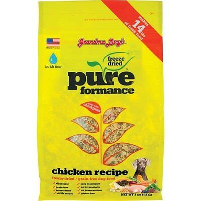 GRANDMA LUCY'S 844211 Pureformance Grain Free Chicken Food for Dogs, 3-Poun
