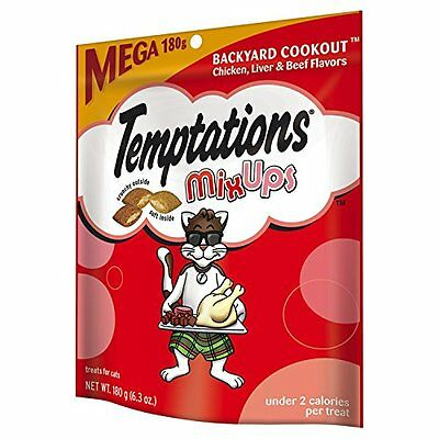 TEMPTATIONS MixUps BACKYARD COOKOUT Flavor Treats for Cats 6.3oz Pouch Mega