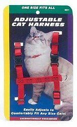 Coastal Pet Products CCP6341RED Nylon Adjustable Figure H Cat Harness, Red