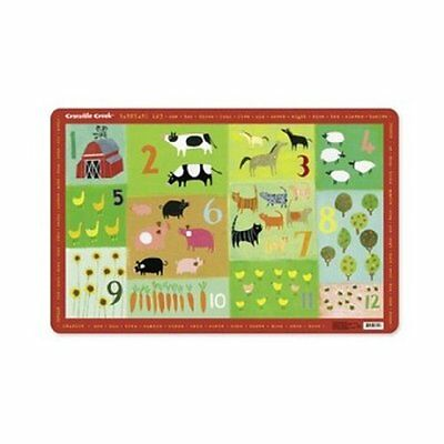 Crocodile Creek Barnyard 123 Placemat