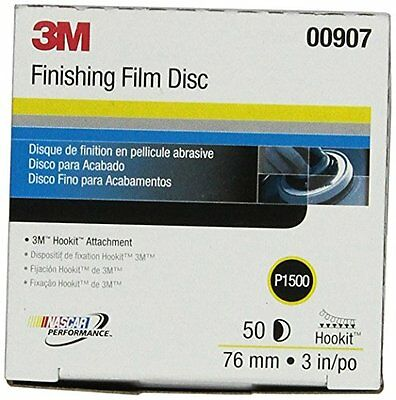 "3M 00907 Hookit 3"" P1500 Grade Finishing Film Disc"