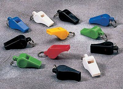 Assorted Colorful Plastic Whistles (12 Per Box)