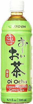 Ito En Tea Beverage, Unsweetened Oi Ocha Green, 16.9 oz. Bottles (Count of