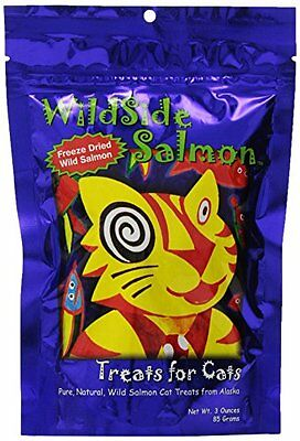 WildSide Salmon Cat Treats - 3 oz