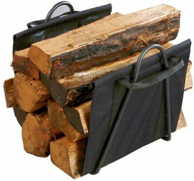 Panacea Fireplace Log Tote With Stand Black