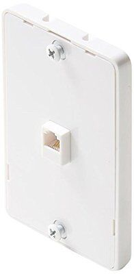 Steren 300-094wh 4-conductor Wall Phone Jack-white