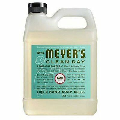 Mrs Meyer's Clean Day 33 Oz Basil Soap Refill 14461 Hand & Bath Soap