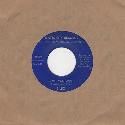 Bileo - You Can Win / Let's Go - Watts City Records Blu101 - Northern Soul Cross