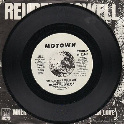Reuben Howell - You Cant Stop A Man In Love - Motown pic sleeve - Northern Soul