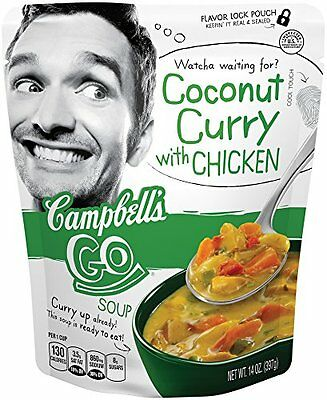 Campbell's Go Soup Coconut Curry with Chicken & Shitake Mushrooms, 14 Ounce