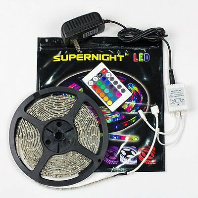 SUPERNIGHT (TM) 5M/16.4 Ft SMD 3528 RGB 300 LED Color Changi