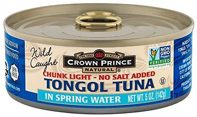 Crown Prince Natural Chunk Light Tongol Tuna in Spring Water, No Salt Added