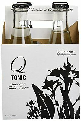Q Tonic Water Tonic Agave,  4-Pack,  9 oz Bottles