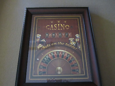 Casino Roulette Framed Art with FREE Shipping