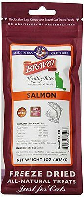 BRAVO 294127 Healthy Bites Salmon Food for Pets, 1-Ounce