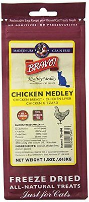 BRAVO 294128 Healthy Medley Chicken with Organs for Pets, 1.5-Ounce
