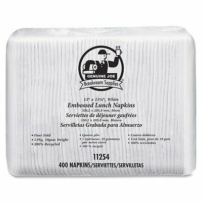 "Genuine Joe - Luncheon Napkins,2-Ply,13""x11-1/4"",400Sh/PK,24"