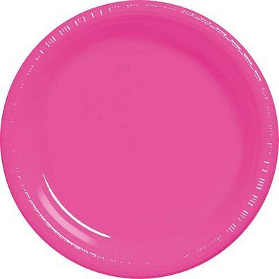 10 1/4 Pink Plastic Plates 20 per pack