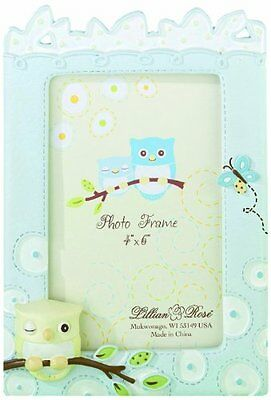"Lillian Rose Picture Frame, Blue Owl, 4"" x 6"""