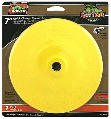 Quick Change Angle Grinder Backing Pad