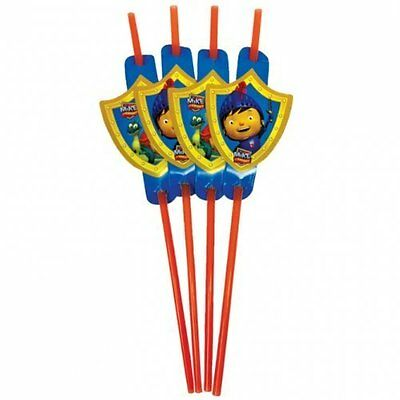 8ct Mike the Knight Plastic Party Straws
