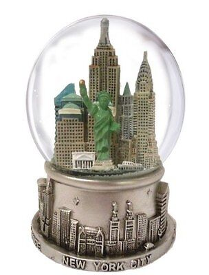 New York City Silver with Color Snow Globe 65mm