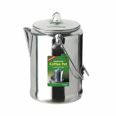 Coghlans 9 Cup Aluminum Coffee Pot, Silver