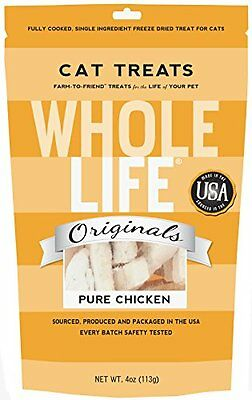 Whole Life Pet Single Ingredient USA Freeze Dried Chicken Breast Treats for