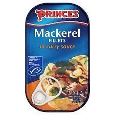 Princes Mackerel Fillets in Curry Sauce (125g)