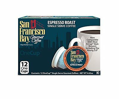 San Francisco Bay Premium Gourmet Coffee Espresso Roast -- 12 Cups