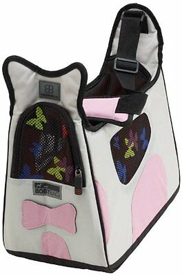 Petego Boby Bag Pet Carrier with Forma Frame, Grey and Pink
