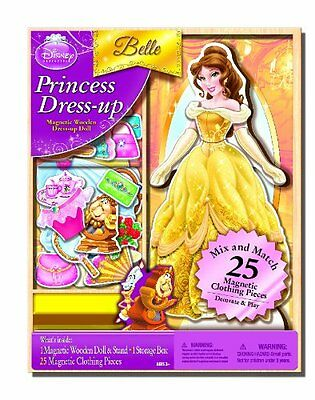 Bendon Disney Belle Wooden Magnetic Playset, 25-Piece