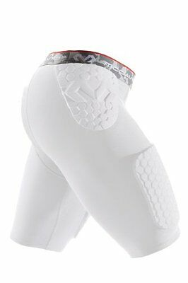 McDavid Hex Thudd Shorts, White, Large