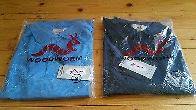 2 x Golf Woodworm polo shirts size M