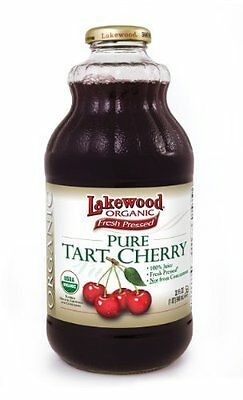 Lakewood Organic Pure Tart Cherry Juice, 32 Fluid Ounce -- 12 per case.