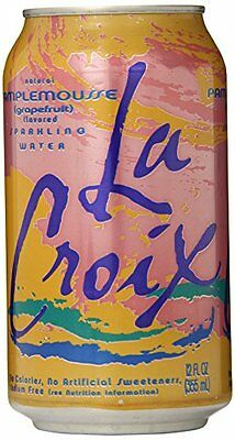 Lacroix Sparkling Water, Grapefruit, 12 Count