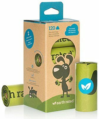 120-Count Earth Rated® Unscented Dog Waste Bags, 8 Refill Rolls