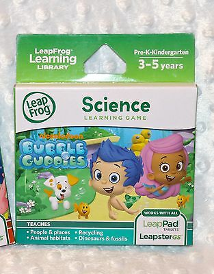NIB LeapFrog Bubble Guppies Science Learning Game; All LeapPads/LeapsterGS 3-5yr