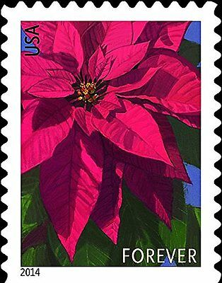 Poinsettia Sheet of 20 x Forever U.S. Postage Stamps