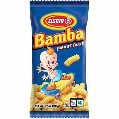 Osem Bamba Snacks, Peanut Flavored, 3.5-Ounce Packages (Pack of 12)