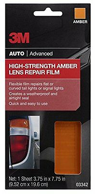 "3M 03342 Amber 3.75"" x 7.75"" High Strength Lens Repair Film"