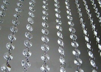 Clear Faux Crystal Beads Chain Garland by CrystalPlace (60'