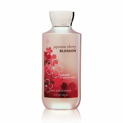 Bath Body Works Japanese Cherry Blossom 10 oz Luxury Bubble Bath