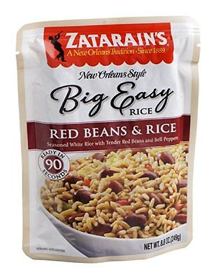 Zatarains Big Easy Red Beans and White Rice, 8.8 Ounce -- 8 per case.