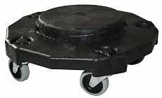 Fvp Trash Can Dolly, Black