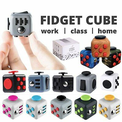 Fidget Cube Anxiety Stress Relief Better Focus Toys Holiday Gift More Color New