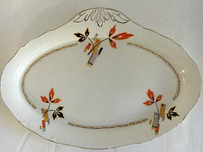 Alfred Meakin 1930s Serving Plate Sandwich Biscuit Plate Art Deco theme